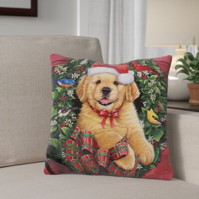 Berkey Christmas Cuties Throw Pillow Color: Brown/Green