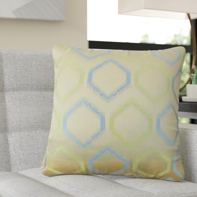 Pilkington Geometric Throw Pillow Color: Blue