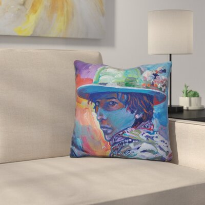 Bob Dylan 70S Throw Pillow