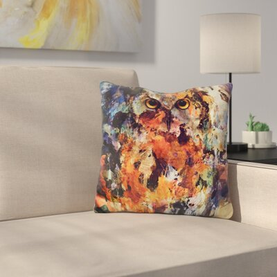 Martindale Watercolor Owl Throw Pillow