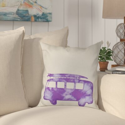Golden Beach Beach Drive Geometric Throw Pillow Size: 18 H x 18 W, Color: Purple