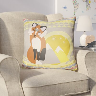 Colinda Fox Throw Pillow Size: 20
