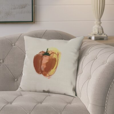 Kaylor Pepper Indoor/Outdoor Throw Pillow Color: Rust, Size: 18 x 18