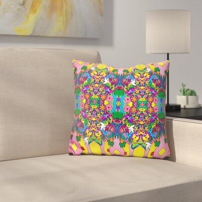 Flowers and Dove Throw Pillow