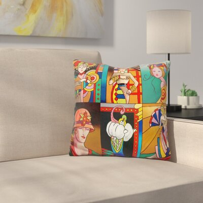 Art Deco Ladies Throw Pillow