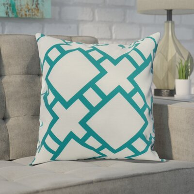 Gerken Indoor/Outdoor Throw Pillow Color: Blue, Size: 20 x 20
