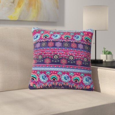 Victoria Krupp Folcloric Border Abstract Outdoor Throw Pillow Size: 18 H x 18 W x 5 D
