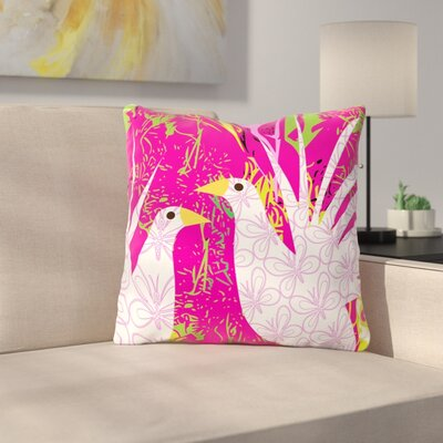 Fruit Birds by Patternmuse Throw Pillow Size: 16 H x 16 W