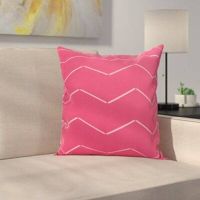 Meehan Stripe Geometric Print Indoor/Outdoor Throw Pillow Color: Pink/Fushcia, Size: 18 x 18