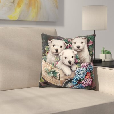 Lovable Westies Throw Pillow
