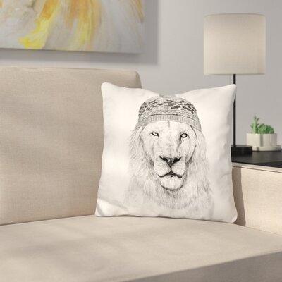 Throw Pillow Color: Black