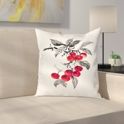 Branch of Artwork Square Pillow Cover Size: 16 x 16