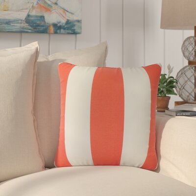 Akins Striped Cotton Throw Pillow