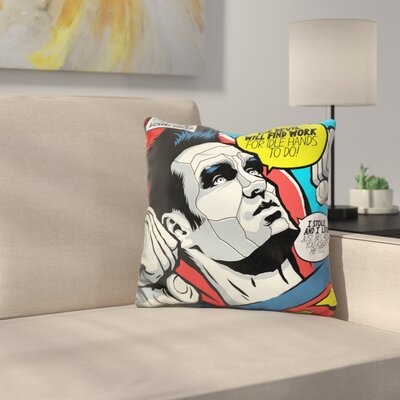 Devil Tee Throw Pillow