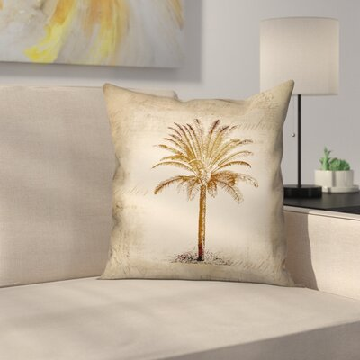 Vintage Palm Throw Pillow Size: 16 x 16