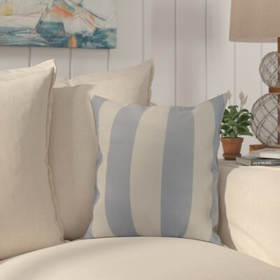 Crider Stripe Print Indoor/Outdoor Throw Pillow Color: Blue, Size: 18 x 18