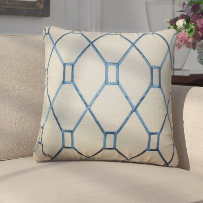 Marcello Geometric Cotton Throw Pillow Color: Blue