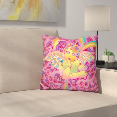 Cherub Throw Pillow Color: Orange/Yellow