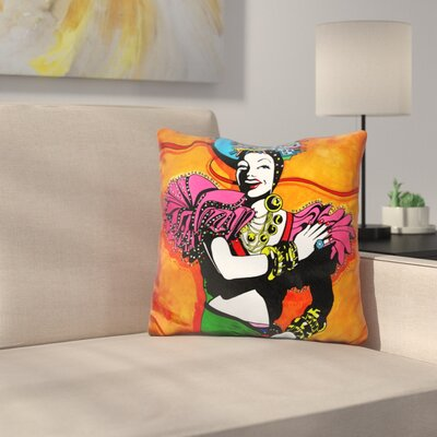 Tutti Fruiti Lady Throw Pillow