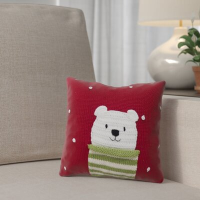 Polar Bear Christmas 100% Cotton Throw Pillow
