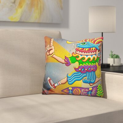 Fish Eye Airwalk Throw Pillow