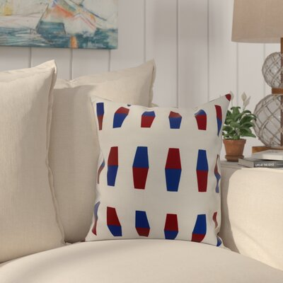 Crider Bowling Pins Geometric Print Indoor/Outdoor Throw Pillow Color: Red, Size: 16 x 16