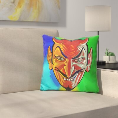 Devil Face Throw Pillow