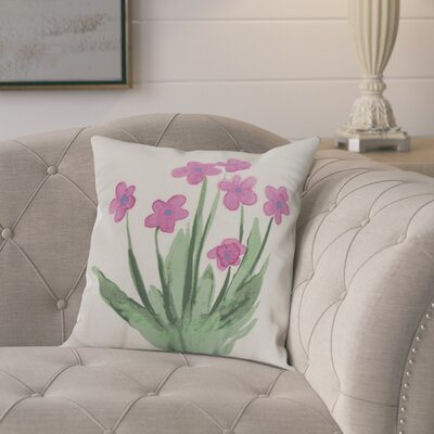 Kaylor Pretty Little Flower Indoor/Outdoor Throw Pillow Color: Pink, Size: 18 x 18