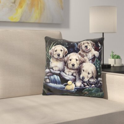 Puppies to the Rescue Throw Pillow