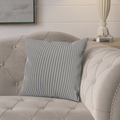 Kaylor Ticking Stripe Indoor/Outdoor Throw Pillow Color: Navy Blue, Size: 18 x 18