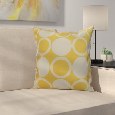 Meekins Small Modcircles Geometric Print Indoor/Outdoor Throw Pillow Color: Yellow, Size: 18 x 18