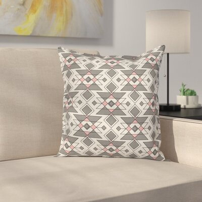 Geometric Aztec Ethnic Cushion Pillow Cover Size: 16 x 16