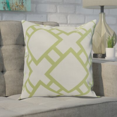 Gerken Indoor/Outdoor Throw Pillow Color: Green, Size: 18 x 18