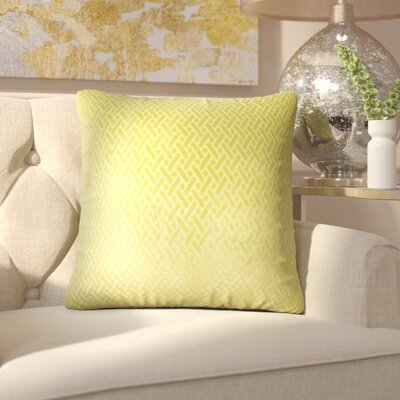 Pawel Solid Down Filled Throw Pillow Size: 24 x 24, Color: Grass