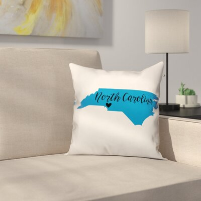 North Carolina Pride Throw Pillow