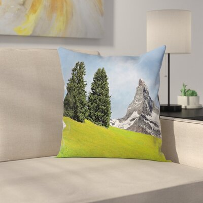 Nature Peaceful Summer Day Square Pillow Cover Size: 20 x 20