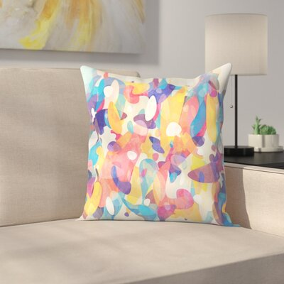 Chaotic Construction Throw Pillow Size: 18 x 18