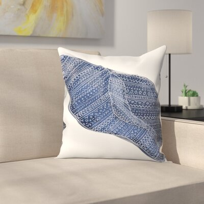 Jetty Printables Tribal Shell Art Throw Pillow Size: 18 x 18