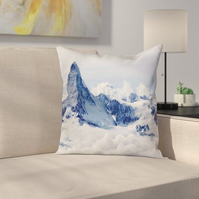 Nature Clouds on Summit Winter Square Pillow Cover Size: 20