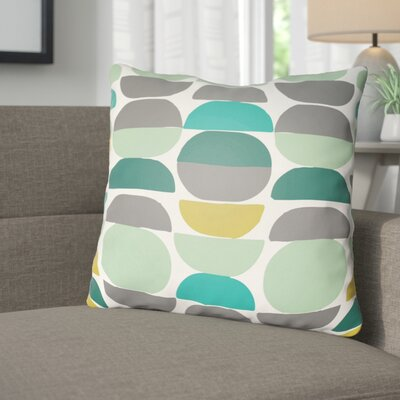 Wakefield Throw Pillow Size: 18 H x 18 W x 4 D, Color: Mint/Grey