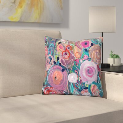 Marinez Floral Forest Throw Pillow