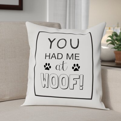 Ahearn Woof Throw Pillow