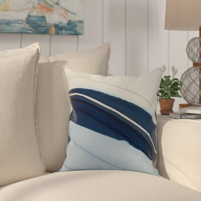 Crider Boat Bow Wood Print Indoor/Outdoor Throw Pillow Color: Blue, Size: 18 x 18