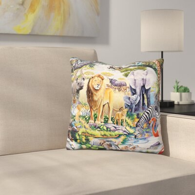 Wildlife Throw Pillow
