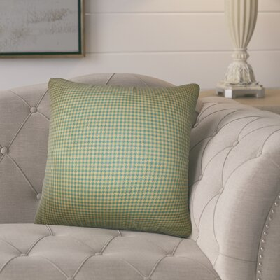 Port Augusta Plaid Cotton Throw Pillow Color: Green/Brown