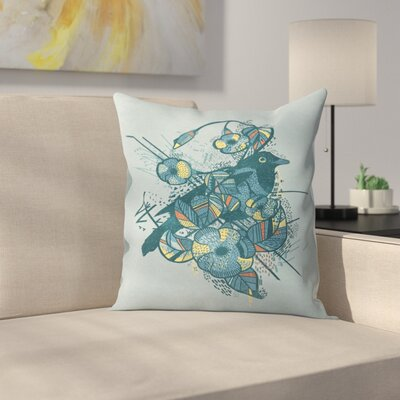 Bird Throw Pillow Size: 16 x 16