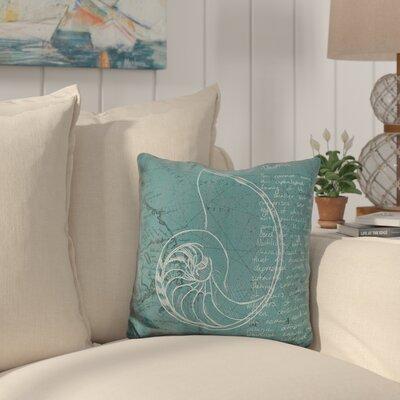 Canady Coastal Print Throw Pillow