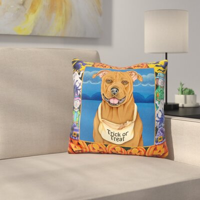 Halloween Pitbull Throw Pillow