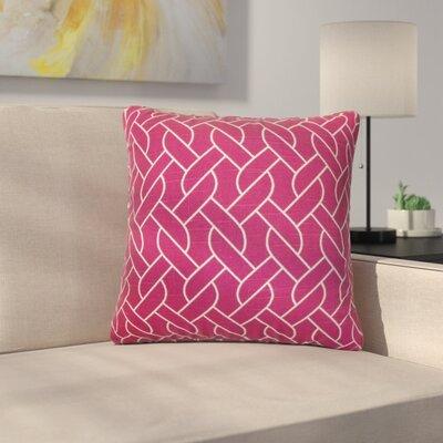 Bugarin Cotton Throw Pillow Color: Azalea, Size: 18 x 18