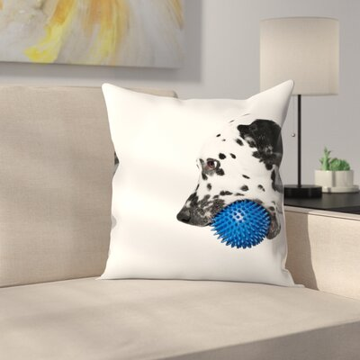 Maja Hrnjak Dalmatian Dog5 Throw Pillow Size: 16 x 16